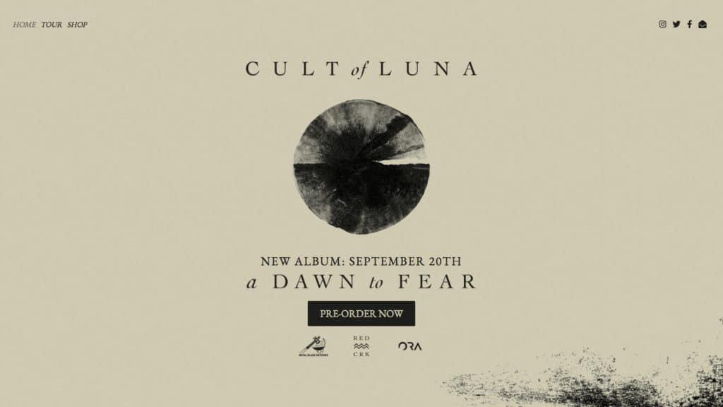 Cult of Luna a dawn to fear Band Website