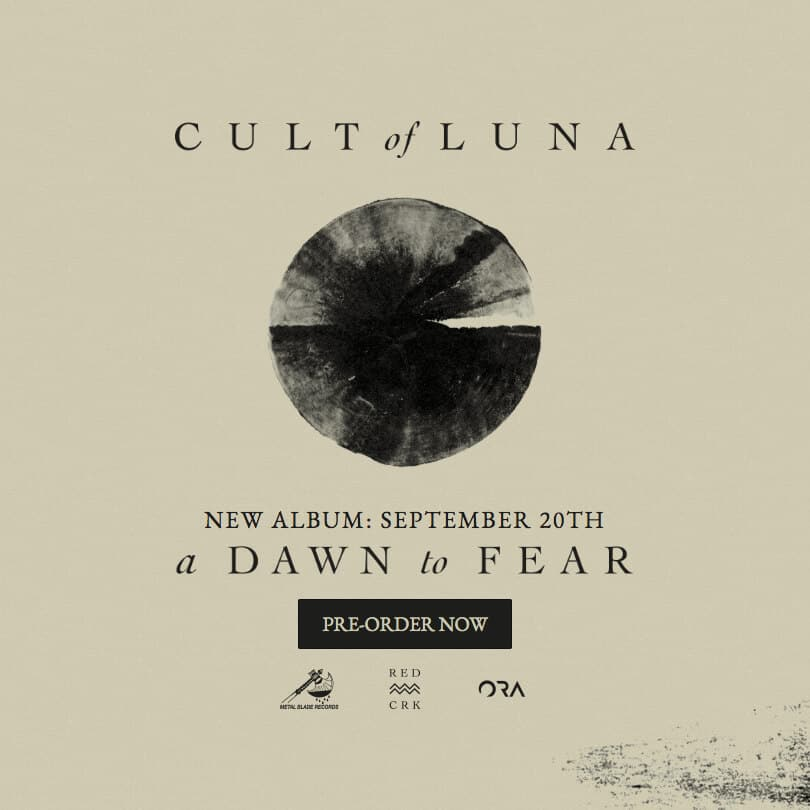 Cult of Luna a dawn to fear Band Website Square