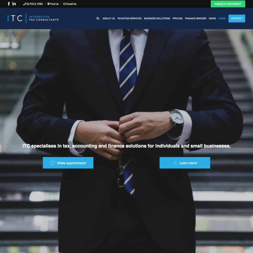 Interactive Tax Consultants Website Square