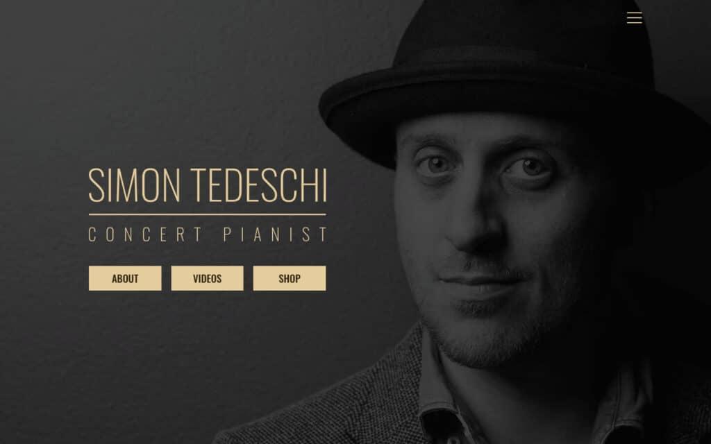 Simon Tedeschi Musician Website