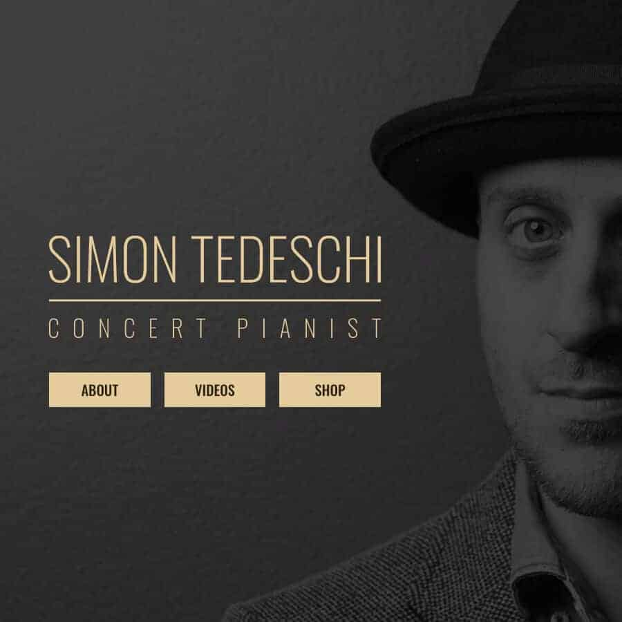 Simon Tedeschi Musician Website square